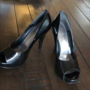 Jessica Simpson heels Black Paten leather